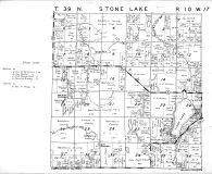 Stone Lake Township, Washburn County 1952